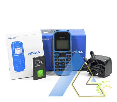 New Nokia 1280 Blue Unlocked GSM Mobile Phone+4Gifts+1 Year Warranty