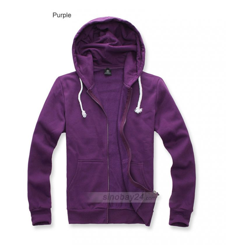 C71009 Mens Casual Cotton Thick Hoodie Sweater Coat